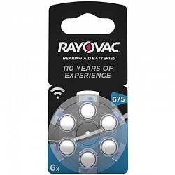 Rayovac Hörgerät Batterien - 675 - Packung à 6 Stk._10016