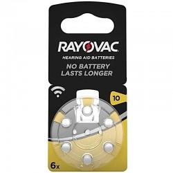Rayovac Hörgerät Batterien - 10 - Packung à 6 Stk._10019