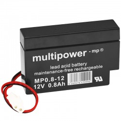 Multipower Standard - MP0.8-12AMP - 12V - 0.8Ah_10092