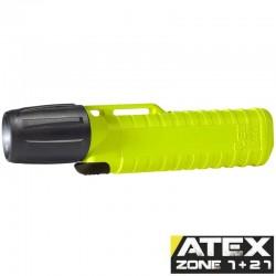 UK4AA eLED Zoom S, ATEX Taschen-/Helmlampe, Frontschalter, neongelb_10180