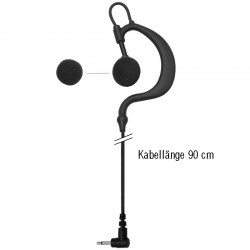 Einfacher Flexi-Ohrhänger - Gerade - 2.5mm - 90cm_10263