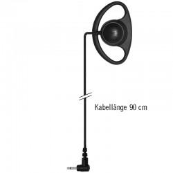 Ohrhörer D-Shell Standard - Gerade - 2.5mm - 90cm_10272