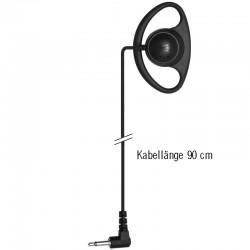 Ohrhörer D-Shell Standard - Gerade - 3.5mm - 90cm_10273