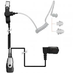 2-Kabel Hörsprechgarnitur mit Schallschlauch - TPH700 - Split PTT/Mikro_10291