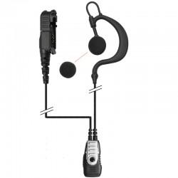 2-Kabel Hörsprechgarnitur mit flexiblem Ohrhänger, mit Mikrofon und PTT_10292