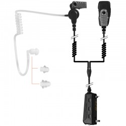 2-Kabel Hörsprechgarnitur mit Schallschlau_10294