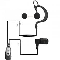 2-Kabel Hörsprechgarnitur - flex - Split PTT/Mikro_10299