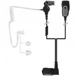2-Kabel Hörsprechgarnitur mit Schallschlauch, Mikrofon & PTT - TPH700_10300