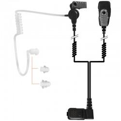 2-Kabel Hörsprechgarnitur mit Schallschlauch, Mikrofon & PTT - TPH700 - Beidseitig_10301