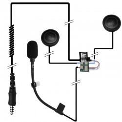 Einbauset Nolan Helm N104 mit zwei Lautsprechern_10395