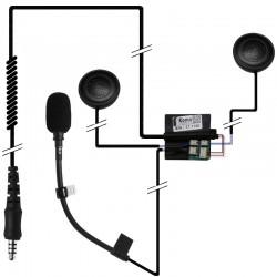 Einbauset Schuberth C3/Pro mit zwei Lautsprechern_10408