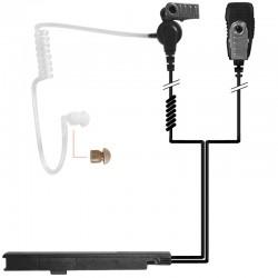 2-Kabel Hörsprechgarnitur mit Schallschlauch, mit Mikrofon und PTT - Covert700_10456
