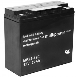 Multipower Zyklisch - MP22-12C - 12V - 22Ah_10476