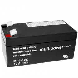 Multipower Zyklisch - MP3-12C - 12V - 3Ah_10479