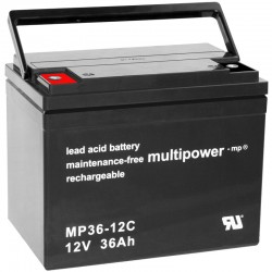 Multipower Zyklisch - MP36-12C - 12V - 36Ah_10489
