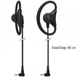 Ohrhörer D-Shell dreh- & einstellbar - Gerade - 2.5mm - 90cm_10493