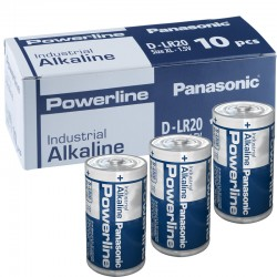 Panasonic Alkaline Powerline Industrial D - LR20  - Packung à 10 Stk._10588