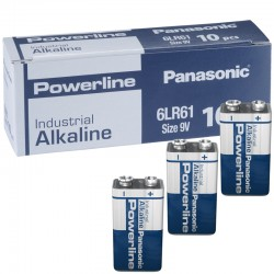 Panasonic Alkaline Powerline Industrial E - 6LR61   - Packung à 10 Stk._10589