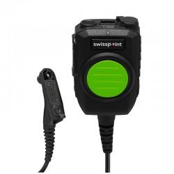 Handmonophon XM05 zu Motorola DP4xxx-E-Serie - Savox - grüne hochsichtbare Front-PTT_10702