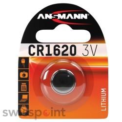 ANSMANN Lithium Knopfzelle CR1620 1er Blister_108