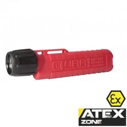 UK4AA eLED Herculite, ATEX Taschen-/Helmlampe, Heckschalter, rot_10810