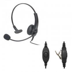Leichtgewicht Bügel-Headset mit einseitigem Laustsprecher und Schwanenhalsmikrofon, mit Inline-PTT_10858