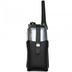 Funketui zu POLYCOM TPH900 aus Leder - mit Halbmond-Clip weiblich - Taschenausführung - swiss made_10894