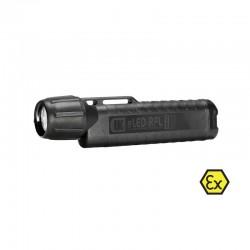 UK4AA eLED RFL-ET, neongelb, ATEX Taschen-/Helmlampe, Heckschalter, schwarz_11088