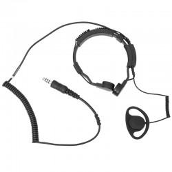 Kehlkopf Sprechgarnitur mit D-Shape Ohrhörer - Stecker: Nexus / Belegung: Savox_11100