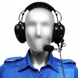 Hörsprechgarnitur Pilotenstil mit verstellbarem Halsmikrofon und in-line Palm-PTT - TPH700_11515