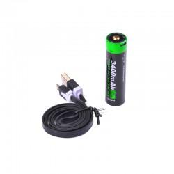NEXTORCH 18650 USB Lithium-Ion (Li-Ion) Akku -  3.6V  3.400mAh_12024