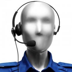 Leichtgewicht Bügel-Headset mit einseitigem Lautsprecher und Schwanenhalsmikrofon, mit In-line PTT_12046