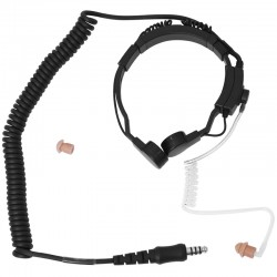 Kehlkopf Sprechgarnitur mit D-Shape Ohrhörer - Stecker: Nexus / Belegung: Peltor_12158