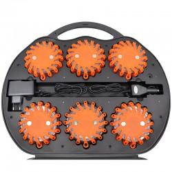 Powerflare LED Warnleuchte orange - 6er Set im Koffer_12190