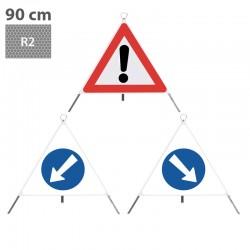 Nissen Faltsignal TrioSign 90cm, R2, komplett - 1.30, 2.35, 2.34_12254