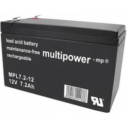 Multipower Long-Life Bleiakku - MPL7.2-12 - 7.2Ah_12438