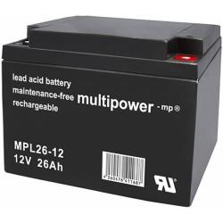 Multipower Long-Life Bleiakku - MPL26-12 - 26Ah_12448