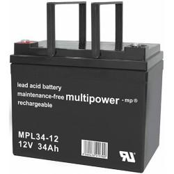 Multipower Long-Life Bleiakku - MPL34-12 - 34Ah_12450