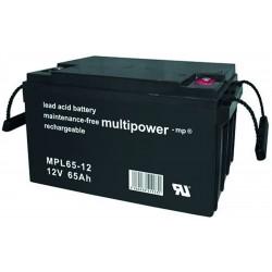 Multipower Long-Life Bleiakku - MPL65-12 - 65Ah_12453