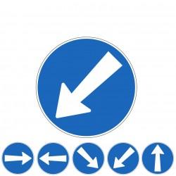Signaltafel - Hindernis umfahren, Fahrtrichtung & Geradeausfahren_12507