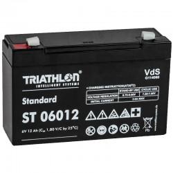Triathlon Standard Bleiakku - ST06012 - 6V - 12Ah_12588