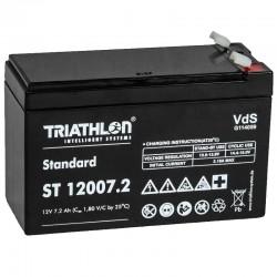Triathlon Standard Bleiakku - ST12007.2 - 12V - 7.2Ah (Faston 4.8mm)_12594