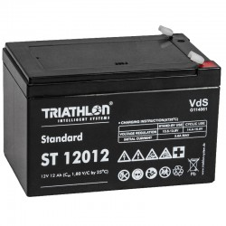Triathlon Standard Bleiakku - ST12012 - 12V - 12Ah (Faston 4.8mm)_12596