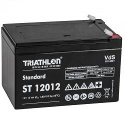 Triathlon Standard Bleiakku - ST12012 - 12V - 12Ah (Faston 6.3mm)_12597