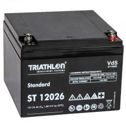 Triathlon Standard Bleiakku - ST12026 - 12V - 26Ah_12599