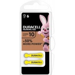 Duracell Hörgerätebatterien - 10 - Packung à 6 Stk_12654