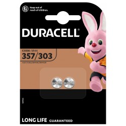 Duracell Knopfzelle - 357/303 - Packung à 2 Stk._12655
