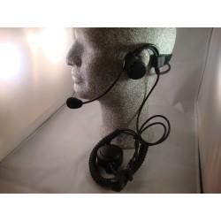 Leichtgewicht (Heavy Duty) Nackenbügel-Headset mit einseitigem Lautsprecher, Schwanenhalsmikrofon und grosser In-line-PTT_3623