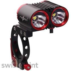 FEREI BL800F Bike-/Fahrradlicht, Farbe: schwarz & rot_581