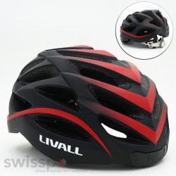 LIVALL BH62 Fahrradhhelm, Farbe: schwarz & rot_599